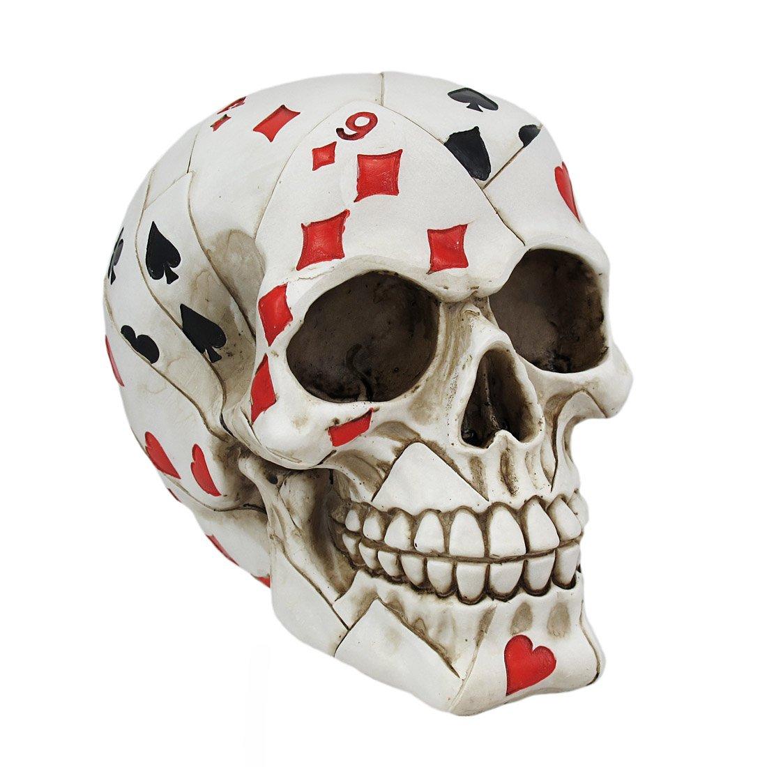 Things2Die4 Playing Card Poker Skull Figure by Things2Die4