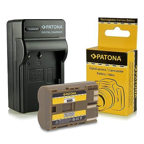 PATONA Cargador + Batería BP-511 para Canon Powershot G1 G2 G3 G5 G6 Pro1 EOS D10 D20 D30 D40 D60 300D y mucho más
