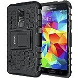 Coque Samsung Galaxy S5 mini, Bouclier Série Smartphone Etui Housse Anti-Slip Galaxy S5 Mini Coque de Protection en TPU avec Absorption de Choc Béquille et Anti-Scratch [4.5 pouces]