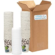 Dixie Grab 'N Go 16 oz Hot Cups with White Lids - 50 Cups, 50 White Lids