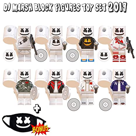 10 Minifigures Boys Action Toys| 5 DJ Marsh + 5 Cool Figures | for Kids Who Loves Ninja Superhero Police Soldiers Warriors Playset Blocks Toys Figures