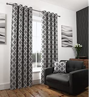 Melbourne, Luxury Eyelet Curtains, Fully Lined, Ring Top Curtains ...