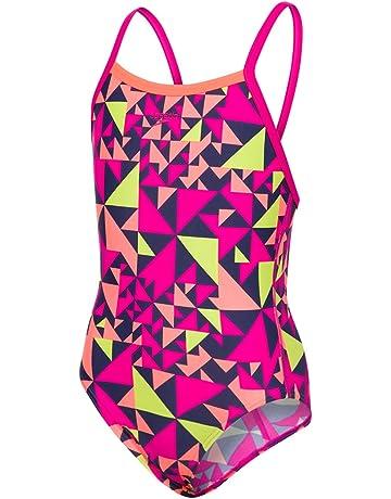 e3817e4bc099c Speedo Girls  All Over Thin Strap Cross Back Swimsuit