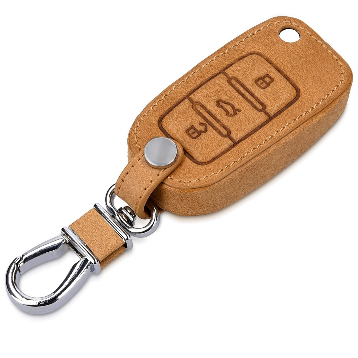 White//Red//Black Heavy Duty PU Leather Protective Key Fob Cover for VW Skoda SEAT 3 Button Car Key kwmobile Car Key Cover for VW Skoda Seat
