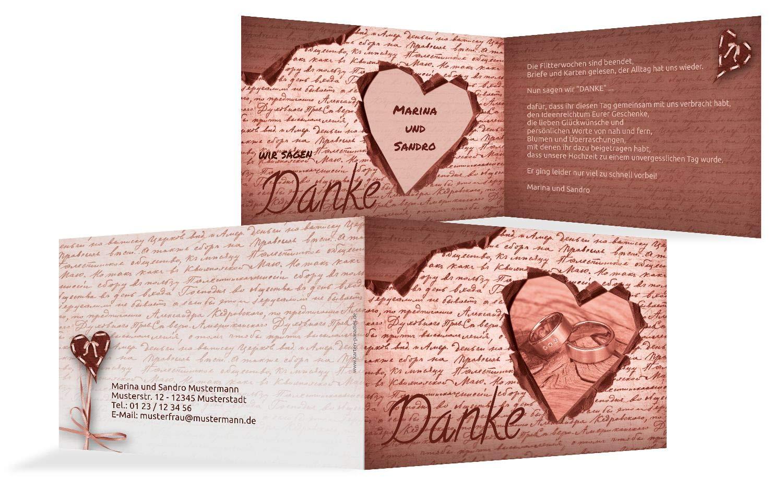 Hochzeit Dankeskarte 2 Herzensgedicht, 10 Karten, braunmatsch B07HN8X515   Internationale Internationale Internationale Wahl    Ausgewählte Materialien    Langfristiger Ruf  cfde3b
