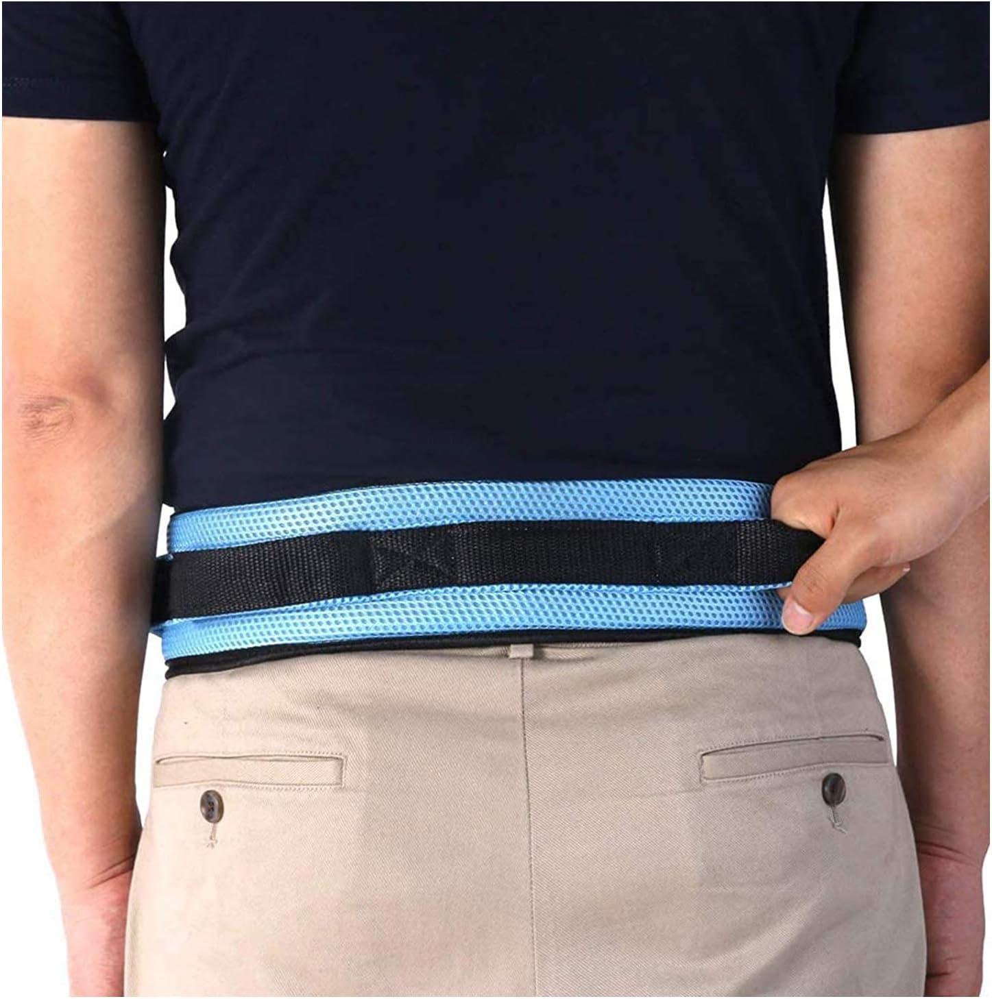 SSCYHT Cinturón Transferencia con Asas Cinturón Marcha Acolchado Ayuda para Caminar y Pararse Tamaño Ajustable Hebilla Liberación Rápida Fácil Usar para Paciente