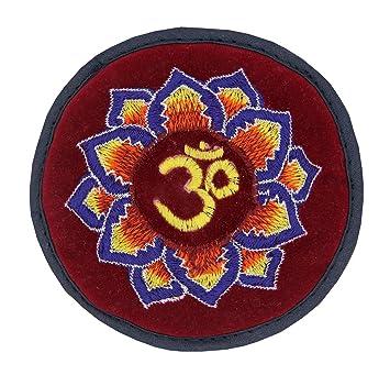Tibetan Velvet Embroidered Small Singing Bowl Cushion HIndu OM