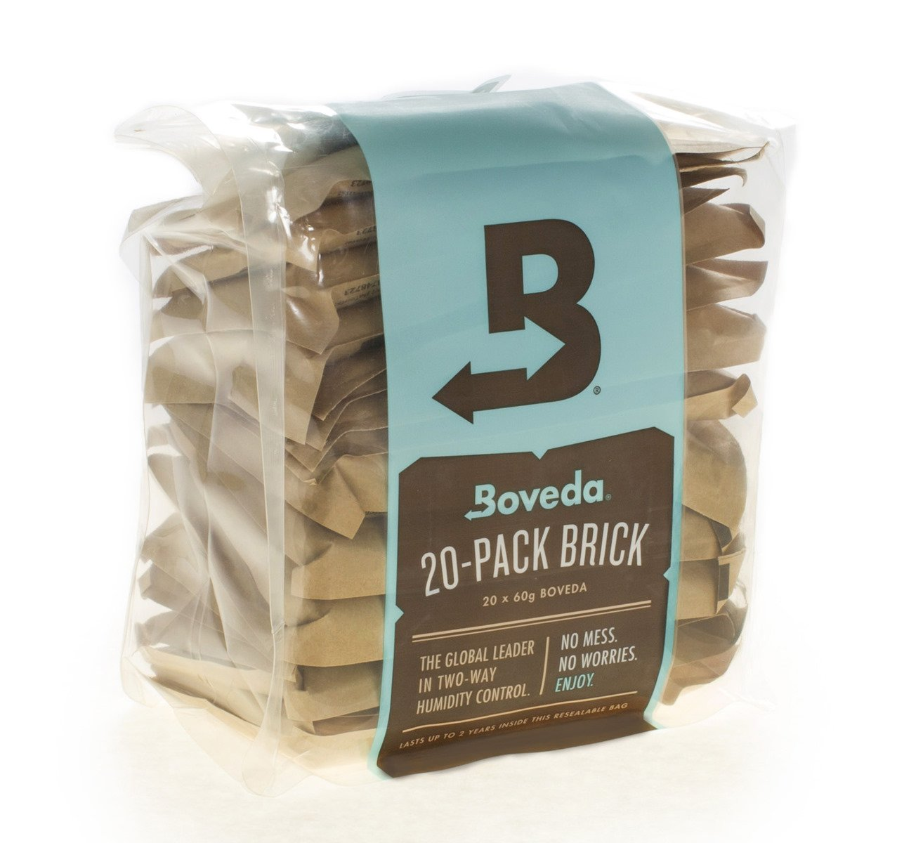 Boveda 58 Percent RH 2-Way Humidity Control, Large 67 gram size - 20-Pack Bulk Brick