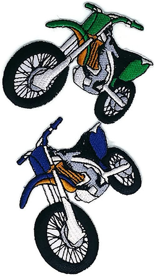 Moto Motocross Dessin Anime Patch Coudre Fer Brode Sur Badge