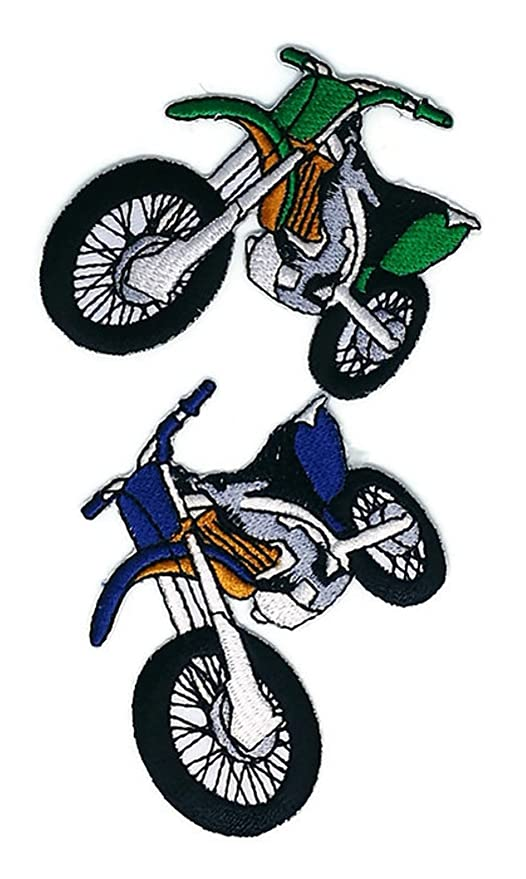 Moto Motocross Dessin Animé Patch Coudre Fer Brodé Sur Badge