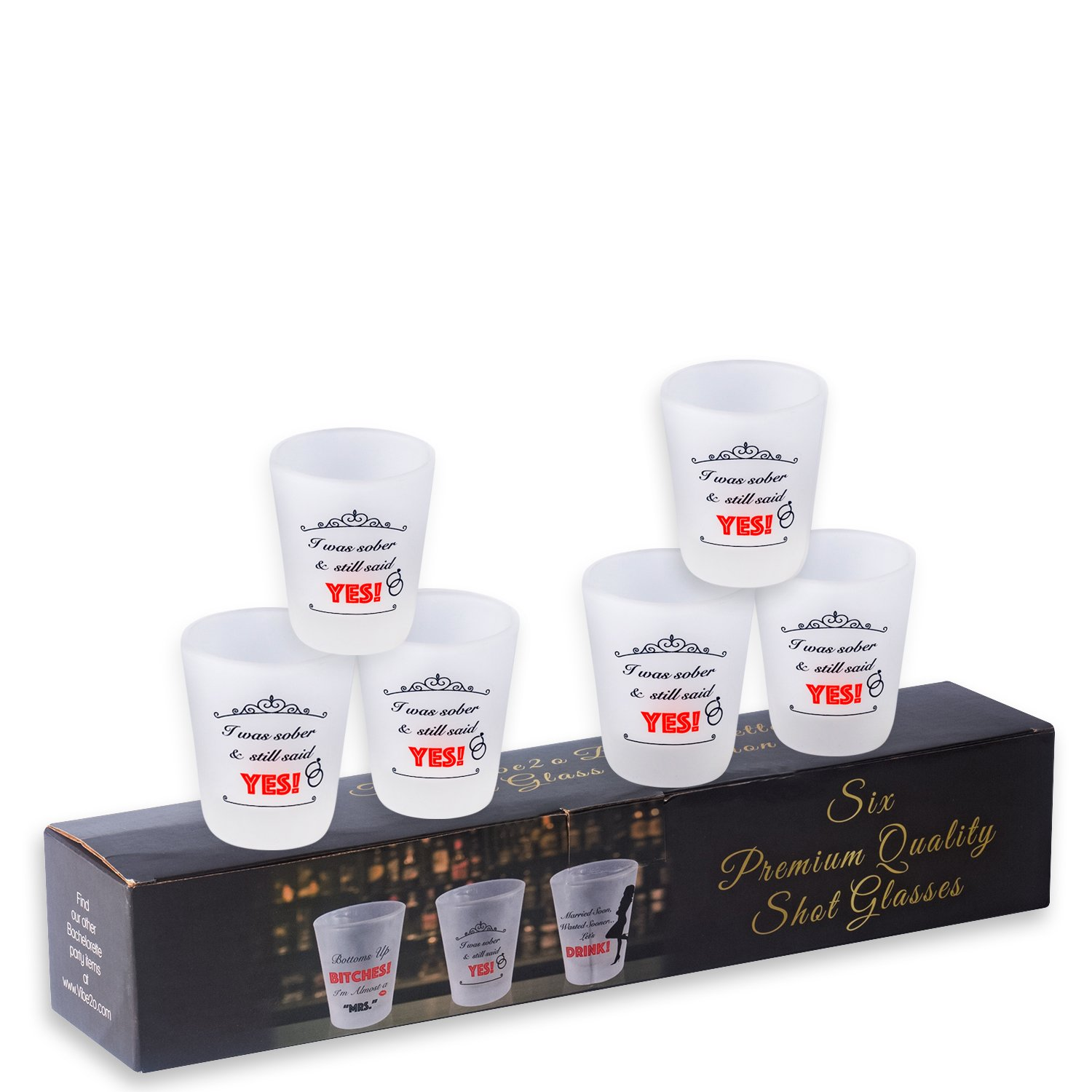 Bachelorette Party Favor Shot Glass 6 pack (I Was Sober)