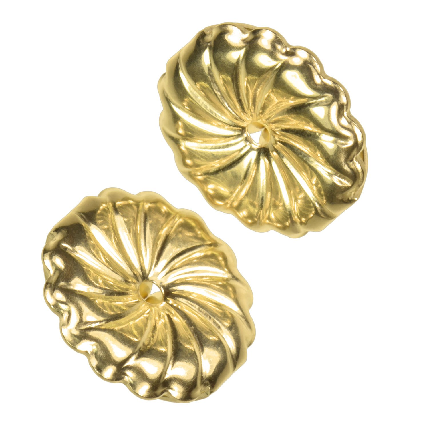 uGems 14K Solid Gold 9.5mm Spiral Swirl Circle Earring Backs for 0.030-0.035'' Post 1 Pair by uGems (Image #4)