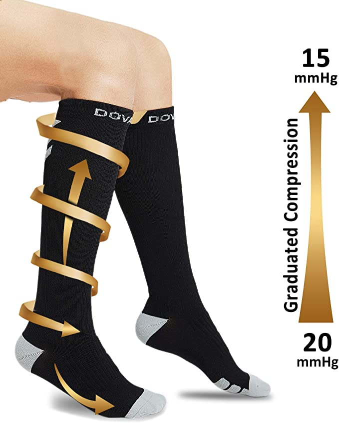 Athletic Fit Running Nurse Travel Dovava Dri-tech Compression Socks 15-20mmHg 2//3//4 Pairs