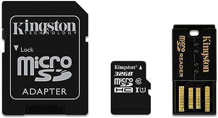 Kingston 32GB Multi Kit - Tarjeta de Memoria microSD de 32 GB, (Kit con adaptadores SD y USB), Color Negro: Amazon.es: Informática