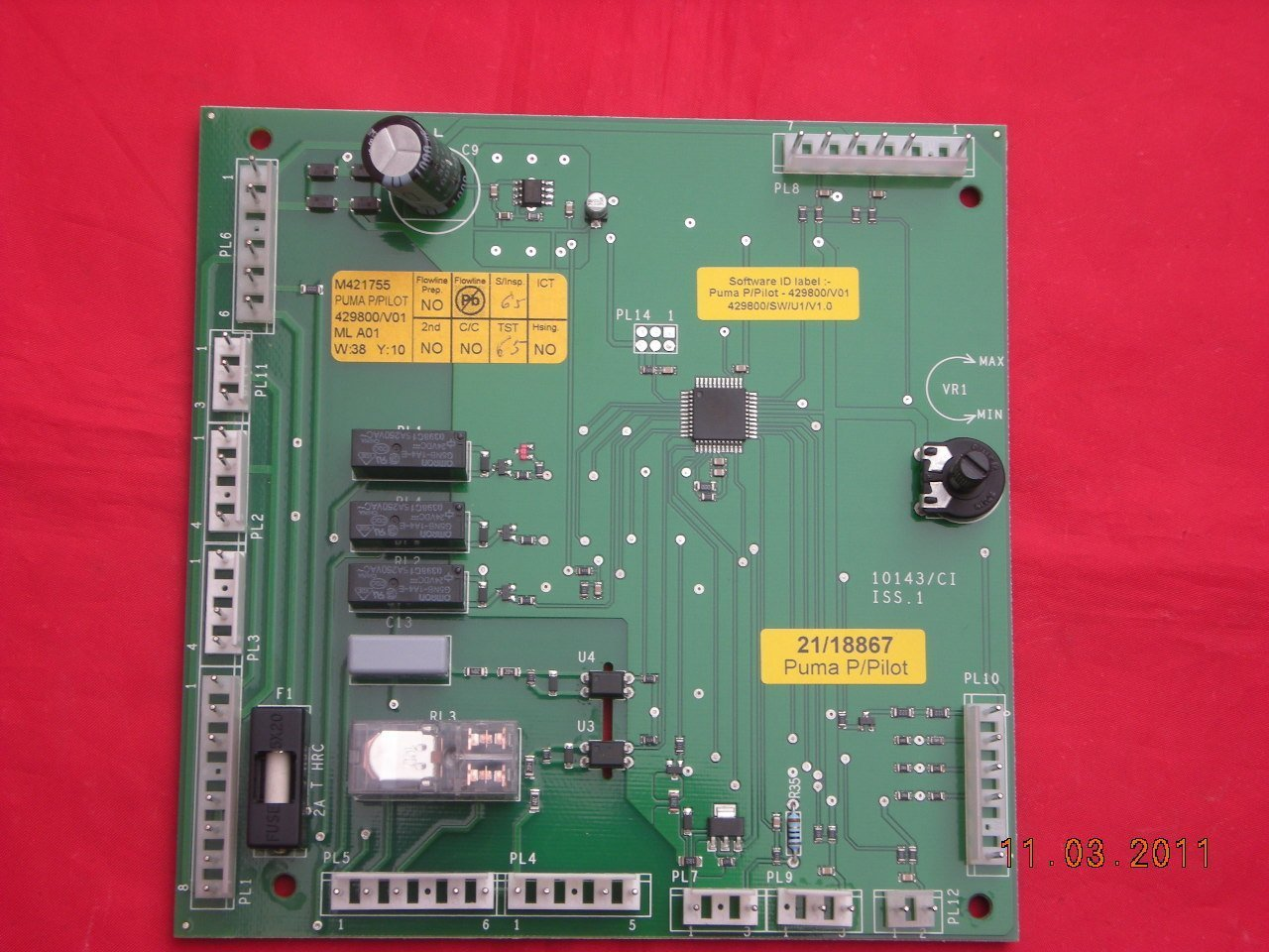 Potterton Puma 80 100 Modulation PCB 21/18867 929685 Permanent Pilot Versions