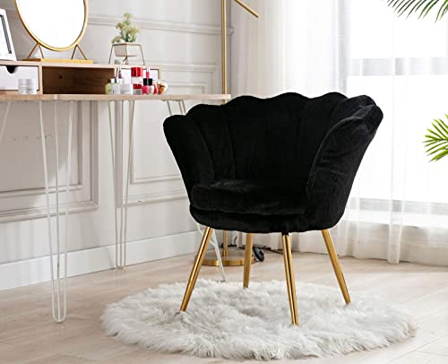 ZH4YOU Modern Upholstered Vanity Chair Tufted