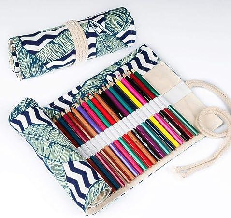 eaodz Estuches Escolar Niñas Caja De Papelería Impresa Estuche para Lápices Estuche para Lápices Color Plomo Estuche para Lápices , 18 Agujeros: Amazon.es: Hogar