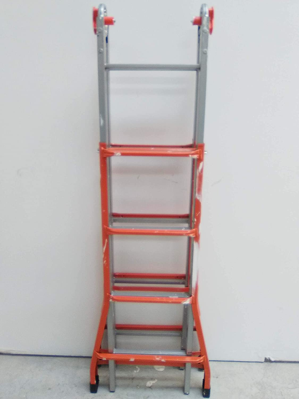 Gierre Peppina - Escalera telescópica (acero, número de peldaños por sección 4 + 5): Amazon.es: Bricolaje y herramientas