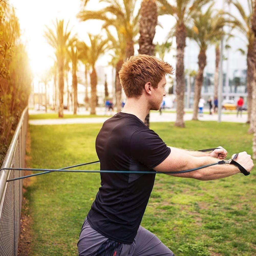 Physiotherapie mit T/ür Anker und Ankle Strap f/ür Beine Workout mit Tragebeutel Widerstand Training CGBOOM 11-Teiliges Widerstand Band Set Home Workouts,Pilates Yoga