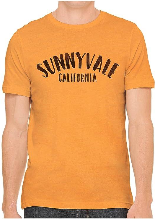 Austin Ink Apparel Unisex Fine Jersey City of Sunnyvale California Print Tee (Classic Orange, M)