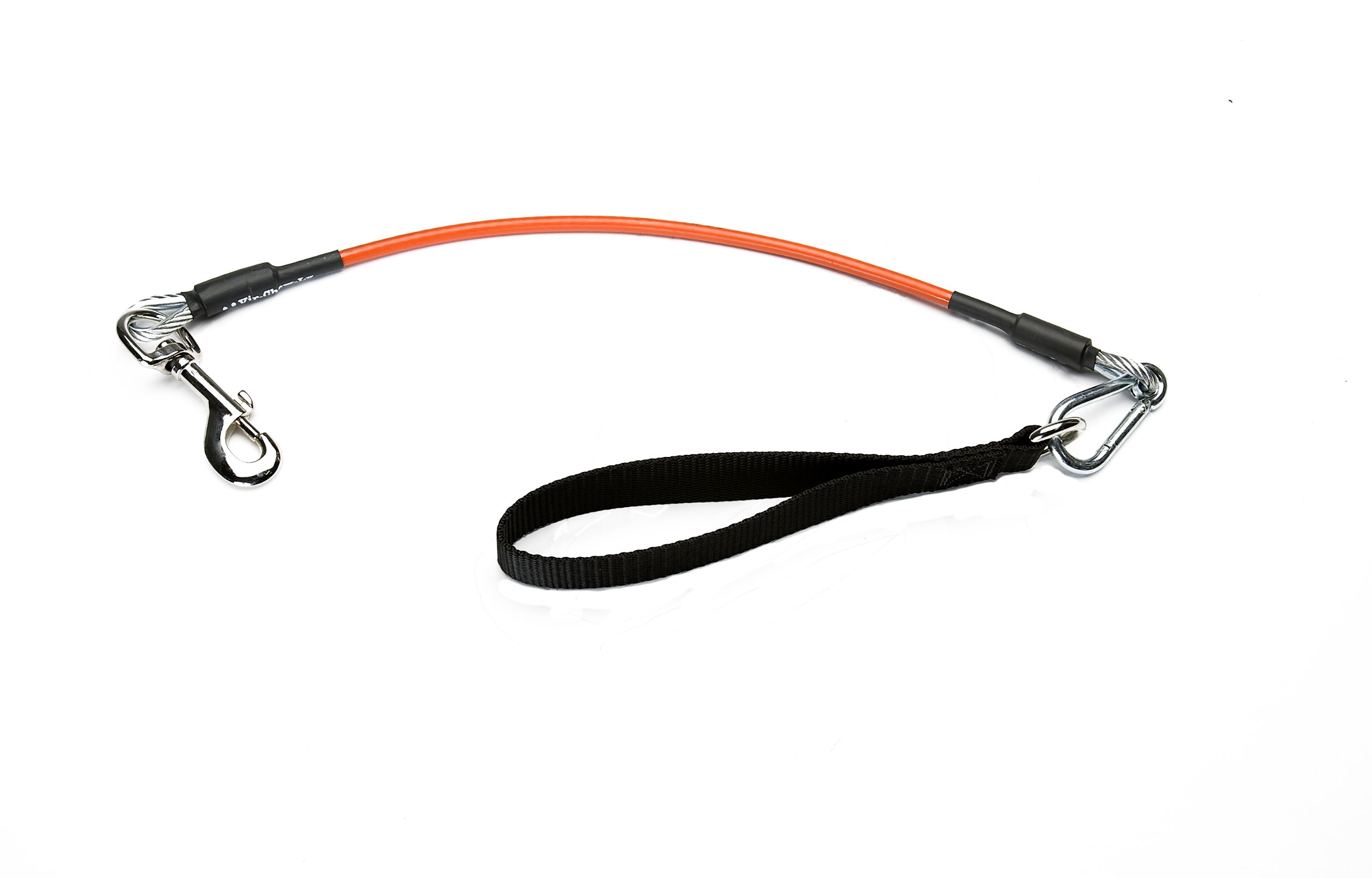 VirChewLy Indestructible Traffic Lead for Dogs, 30'', Large, Orange