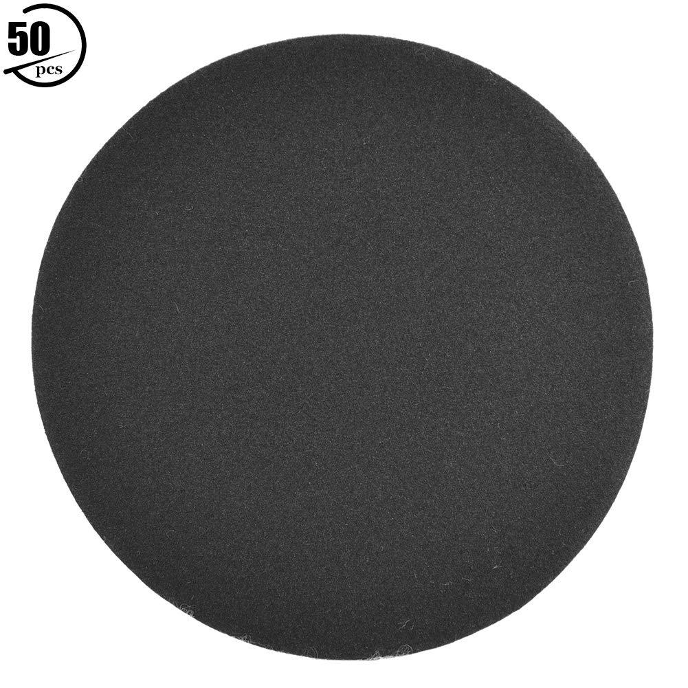 400# 3inch Liukouu 50pcs Hook and Loop 75mm Sander Disc Sanding Polishing Paper Pads Abrasive Sandpaper