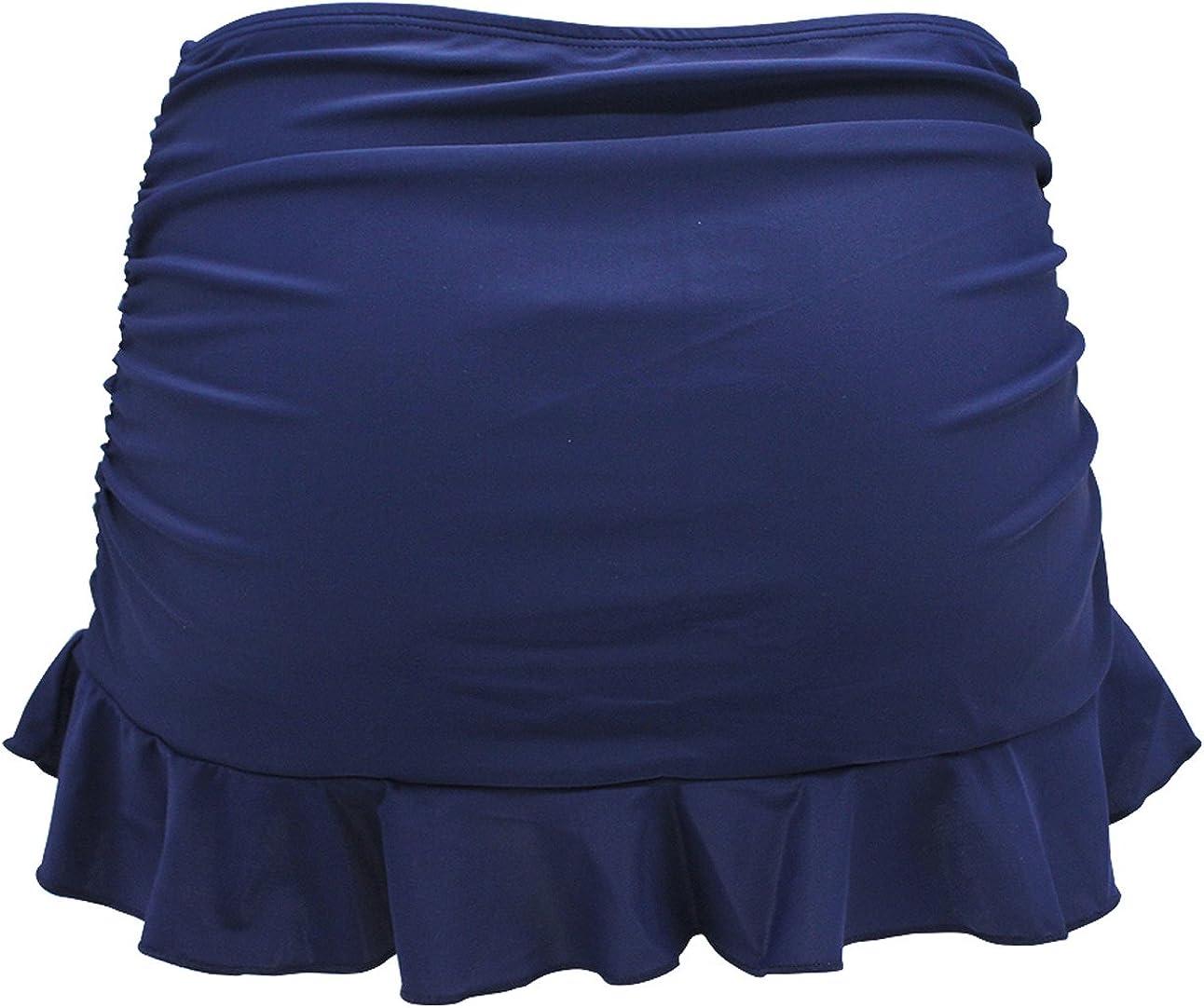 SHEKINI Bikini Bottom for Women Skirted Shorts Ruffle Swimsuit Dress Briefs Swimwear