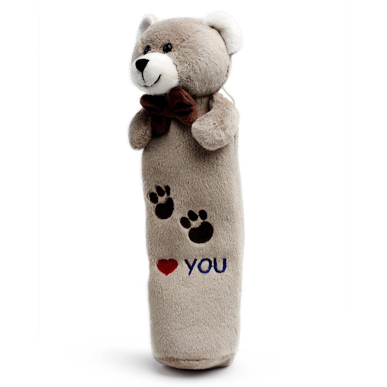 HongFang Toys Gold Moose Bear of Allan Stuffed Animal Pencil Case Makeup Bag 10.23 Inch