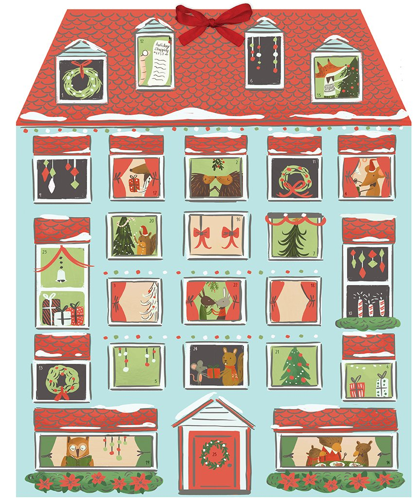 Forest Friends Christmas House Advent Calendar