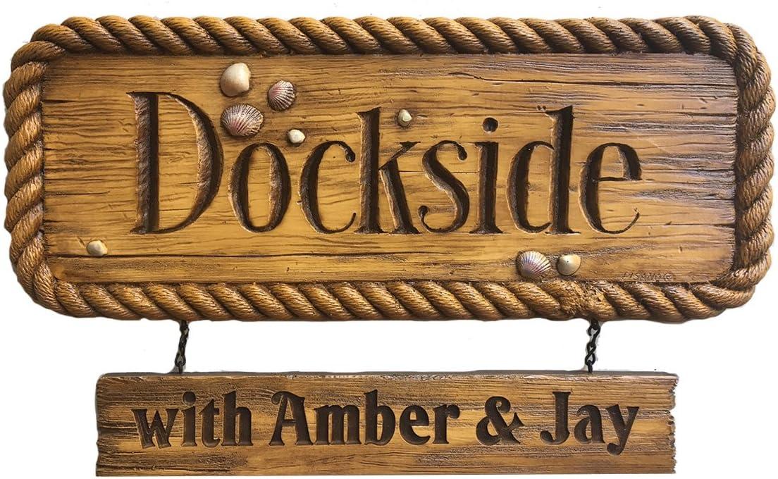 Piazza Pisano Nautical Decor Personalized Dockside Sign Home Kitchen