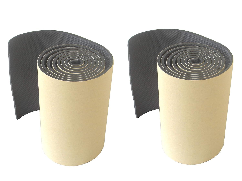 FLWP20020Bx2 Profilo paracolpi di parcheggi, realizzata in schiuma, dotato di adesivo sul retro, per edifici industriali, garage e magazzini, in rotolo, dimensioni 200x20x0,5 cm, nero. (Pacco da 2) CDS