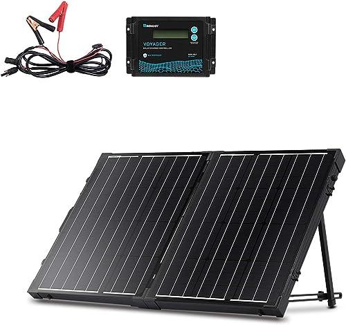 100 Watt 12 Volt Monocrystalline Off Grid Portable Foldable RV Solar Panel Kit [Renogy] Picture