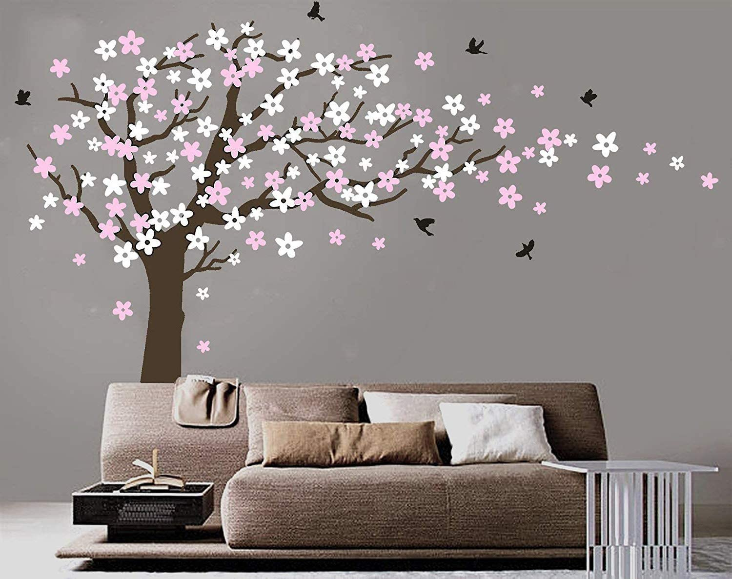 Amazon Com Mafent Large Cherry Blossom Tree Blowing In The Wind