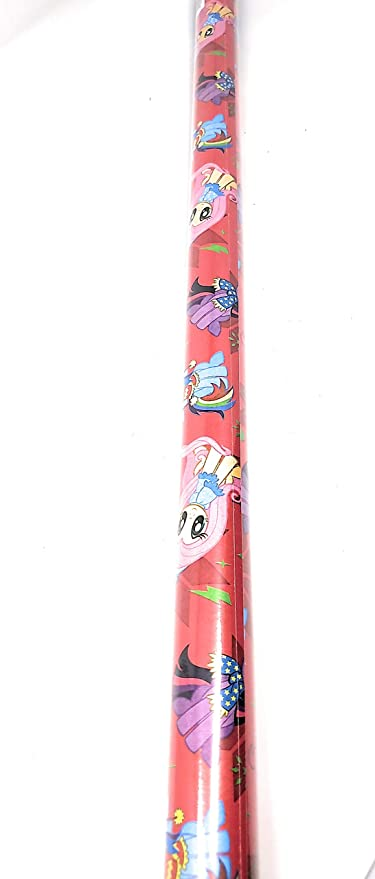 Amazon Com Ns Holiday Christmas Wrapping Paper Little Pony Gift Wrap Bonus Noelles Xmas Window Gel Clings Greetings Party Festive 20 Sq Feet 1 Roll Home Kitchen