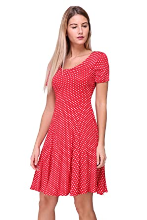 Manches Patineuse France Robe Pour In Made Courtes A Pois Revdelle UTPAqP