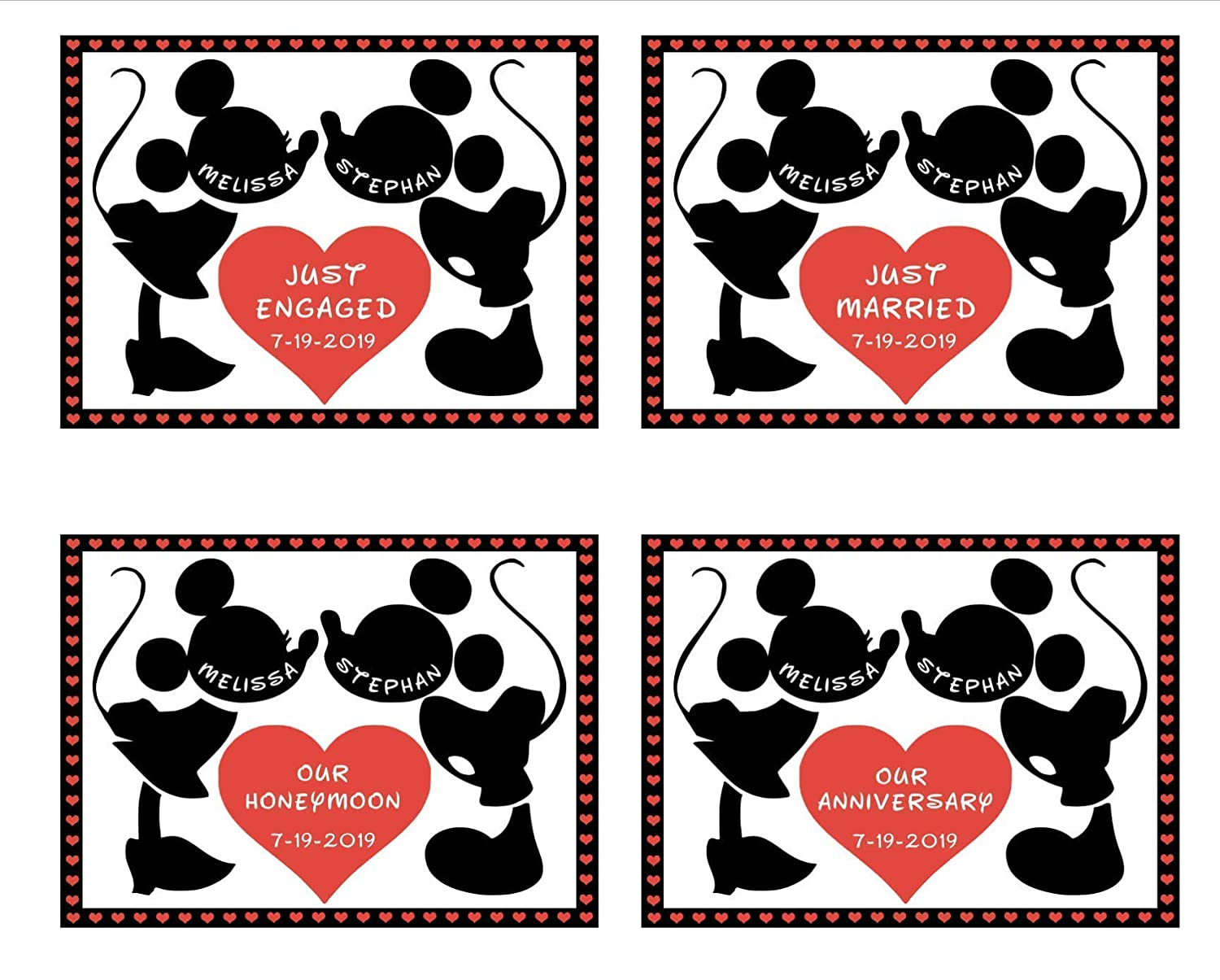 FREE Shipping Our Honeymoon Stateroom Door Magnet Just Engaged Disney Cruise Magnet LARGE Personalized Disney Anniversary Door Magnet Just Married Magnet
