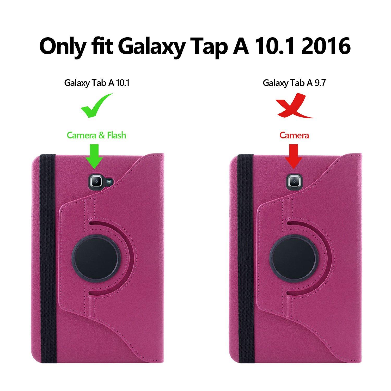 + Protector de la Pantalla SAVFY Giratoria 360 grados Stand PU Funda Flip Set Rosado Samsung Galaxy Tab A 10.1 Funda L/ápiz Optico para Samsung Galaxy Tab A 10.1 2016 SM-T580N // T585N con Auto Reposo // Activaci/ón Funci/ón