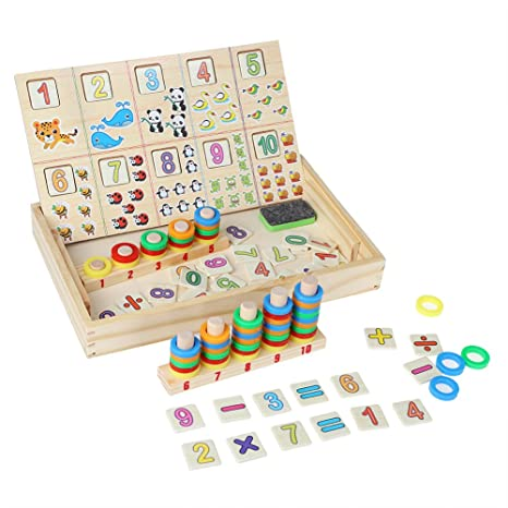 Educational Counting Toys for Kids, Arithmetic Box Maths Mathematics  Counting Teaching Learning Toy Set,Preschool Teaching Tool