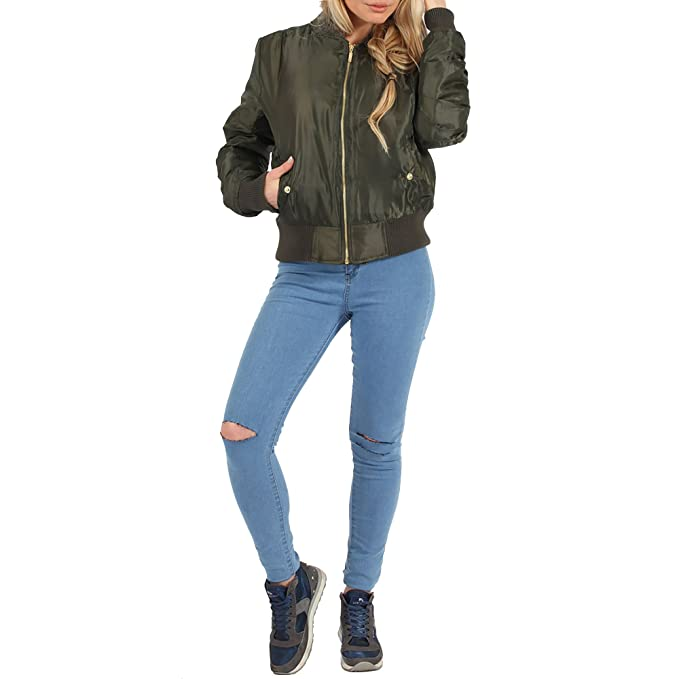 Simply Chic Outlet - Chaqueta - Bombardeo - para mujer verde ...