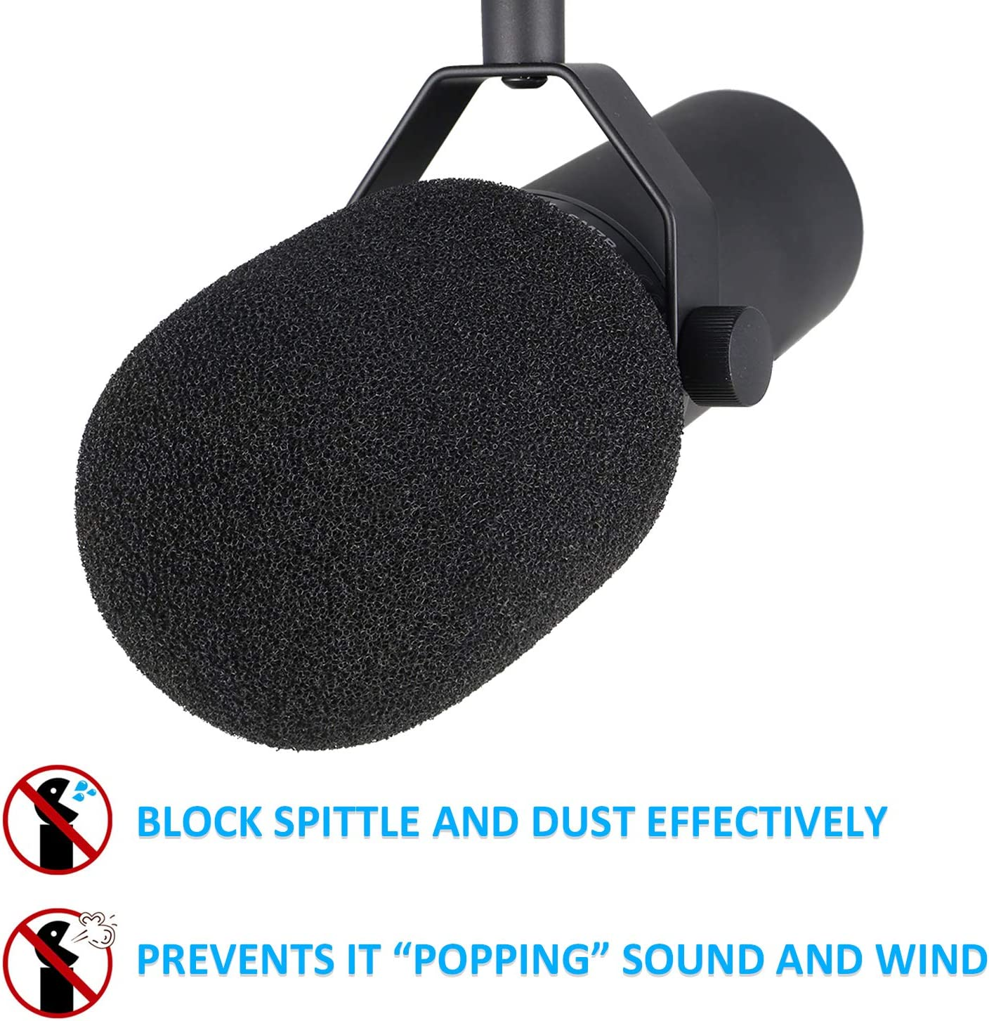SM7B Microphone Pop Filter Windscreen Foam Cover Customized for Shure SM7B Mic to Blocks Out Plosives by YOUSHARES
