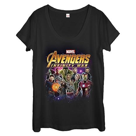 8450a6768 Amazon.com: Marvel Women's Avengers: Infinity War Character Shot Scoop Neck  T-Shirt: Clothing