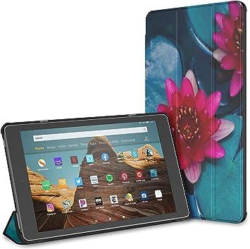 Estuche para Hermosa Tableta Lotus Fire HD 10 en Flor (9.a / 7.a generación, versión 2019/2017) Estuche para Kindle Estuche para Tableta Fire HD 10 Auto Wake/Sleep para Tableta de 10.1 Pulgadas: Amazon.es: Electrónica