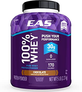 EAS 100% Pure Whey Chocolate 5lb Tub Protein Powder