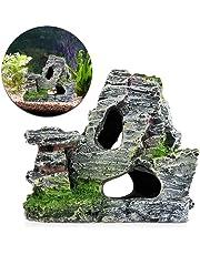 mi ji - Decoración para Acuario, Korallenriff, Roca, Montaña, Gruta, Piedra, almizcle