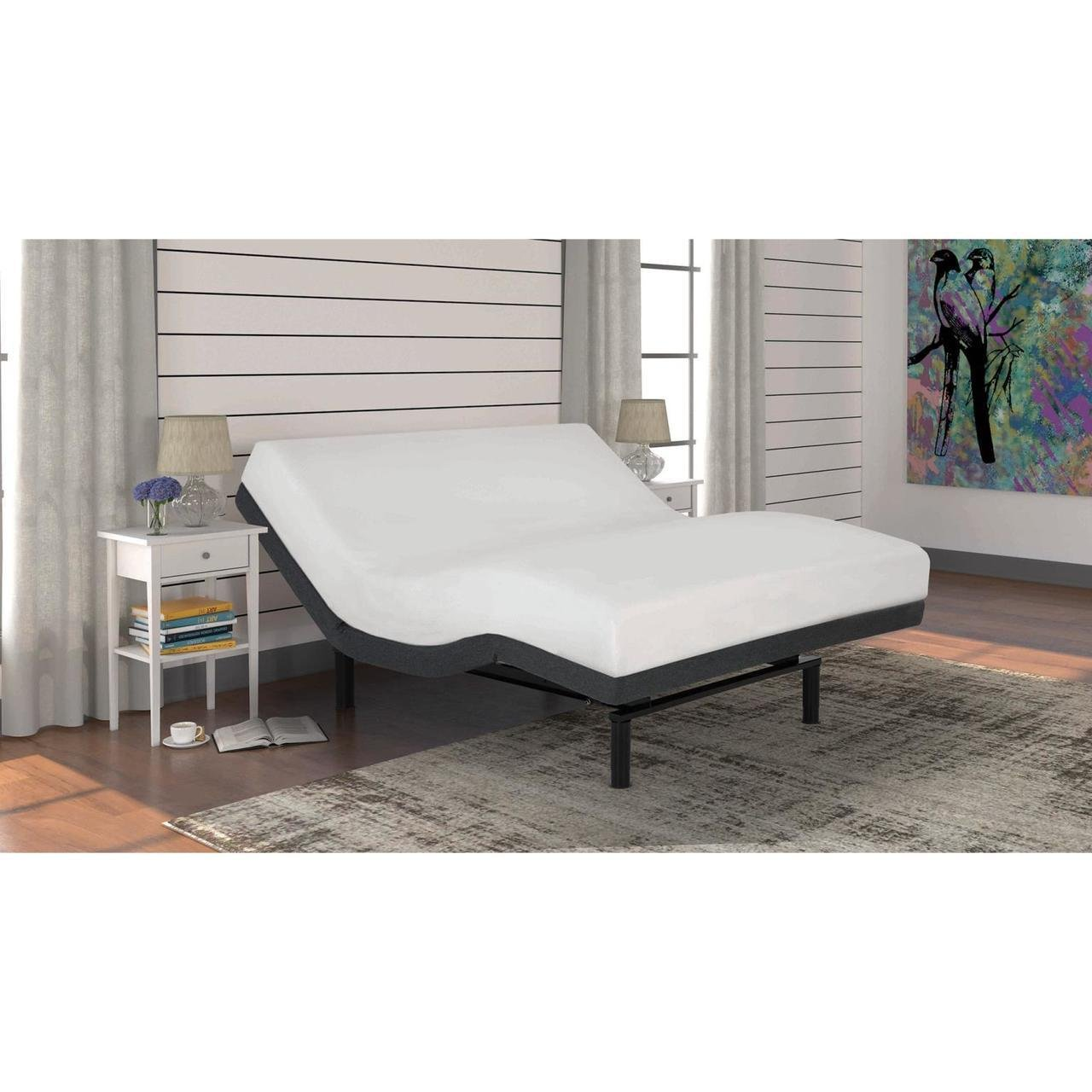 iDealBed Leggett and Platt iEscape Adjustable Bed Base, Wireless, Wall Hugger, Massage, Zero Gravity, Queen