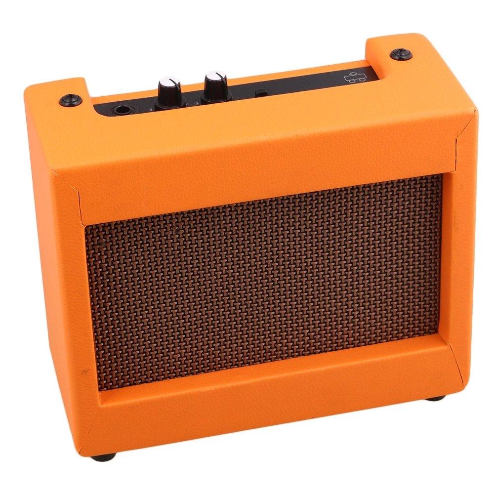 Plastic Orange Guitar Amplifier 9V/5W Portable Small Guitar Loudspeaker