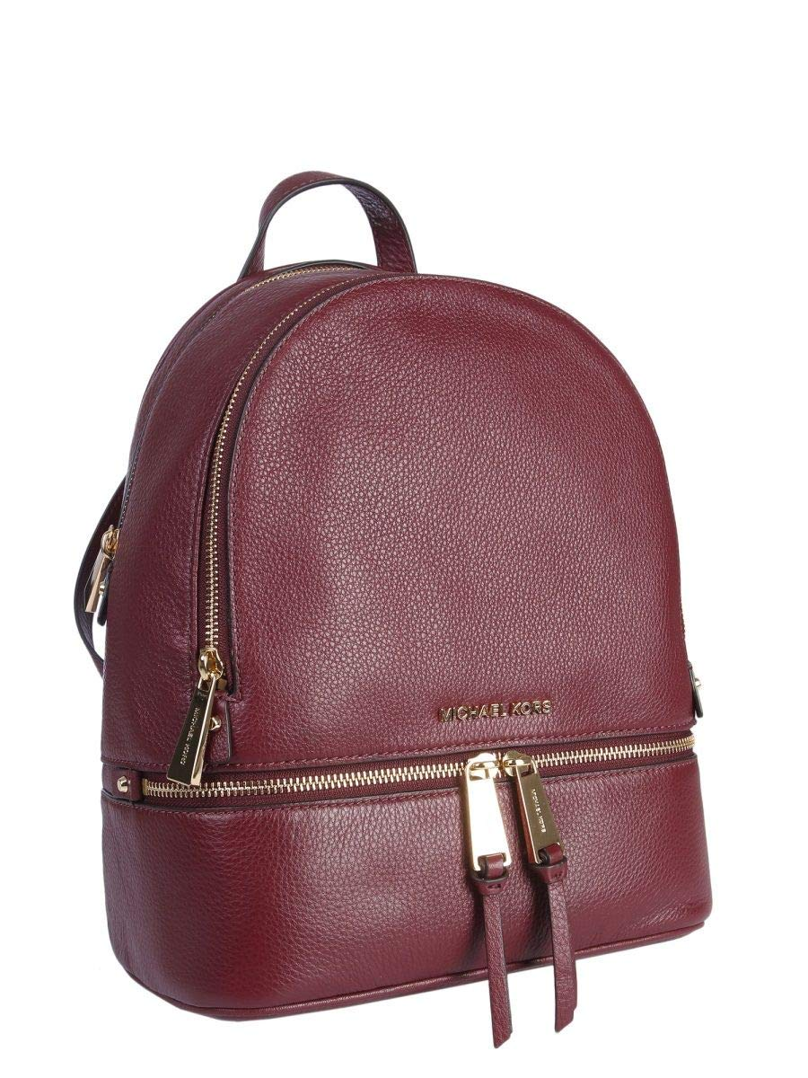 4ef7f9f3f682 Amazon.com | Michael By Michael Kors Women's 30S5gezb1l610 Burgundy Leather  Backpack | Casual Daypacks