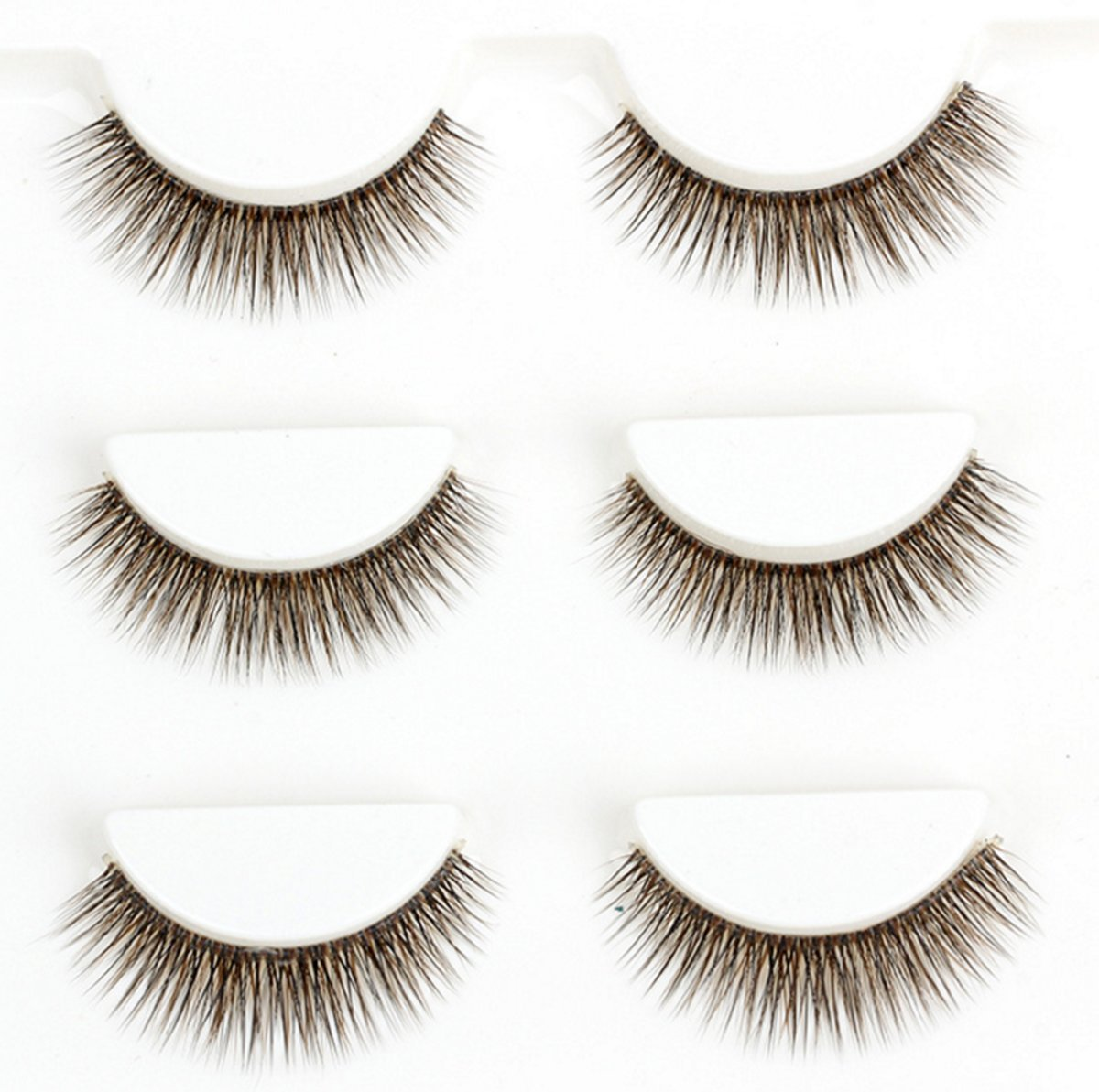 Amazon Elegant Lashes 148 Brown Thick Double Layer Criss