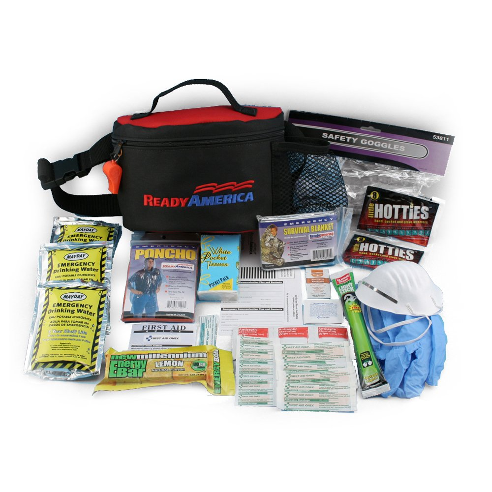 Ready America 70070 Emergency Kit 1 Person, 1 Day Hip Pack
