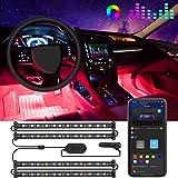 Govee Car LED Lights, Interior Car Lights Upgrade Two-Line Design, APP & Box Control, Music Sync, RGB LED Lights for Car, DC